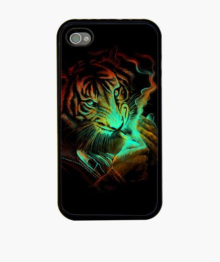 Coque iPhone lumière tigre
