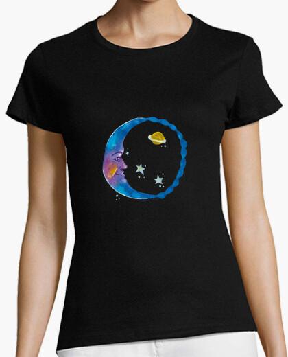Camiseta Luna arcoiris