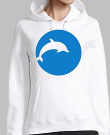 luna azul de delfines