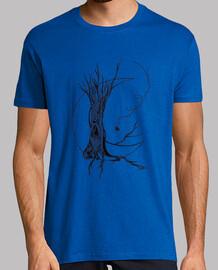 luna camicia albero uomo