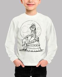 Luna llena - Camiseta infantil manga