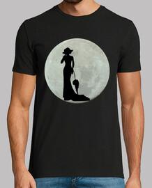Luna llena mujer de epoca