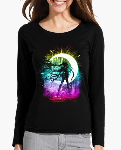 Camiseta luna versión de la tormenta arco iris