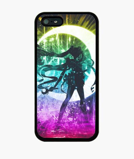 Funda iPhone luna versión de la tormenta arco iris
