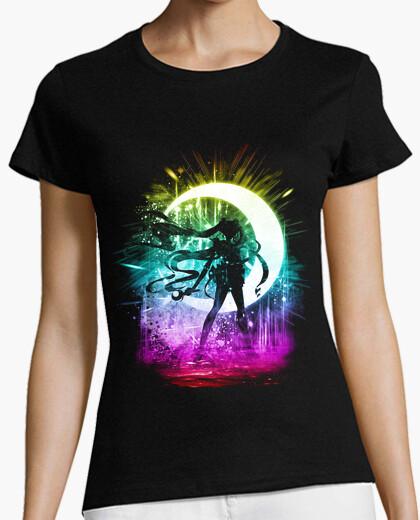 T-shirt luna versione tempesta arcobaleno