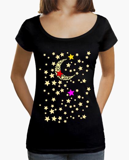 Camiseta Luna y Estrellas Tricolor