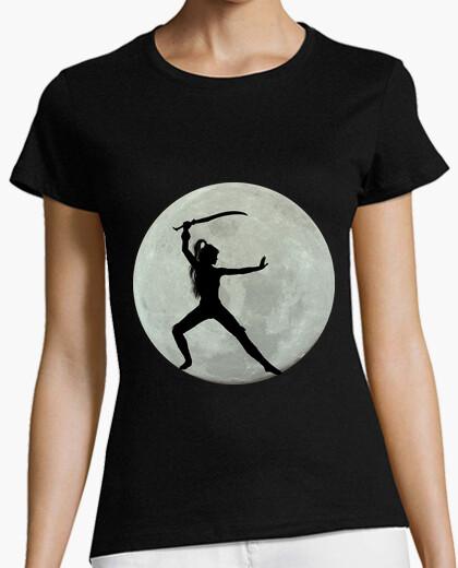 Tee-shirt lune et guerrier
