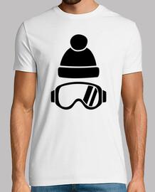 lunettes de ski chapeau