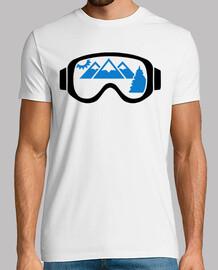 lunettes de ski montagnes
