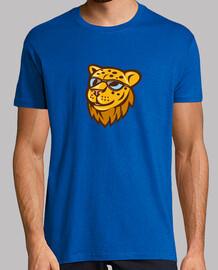lunettes de soleil de la tête de guépard dessin animé sourire