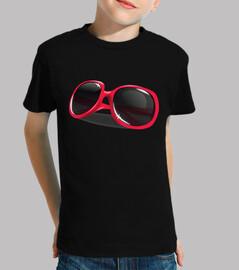 lunettes de soleil rouges