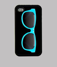 lunettes de soleil turquoise