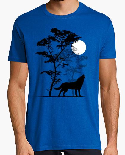 T-shirt lupo che ulula