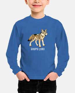 lupo manica lunga per bambini