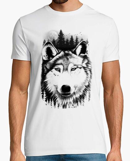 T-shirt lupo selvaggio