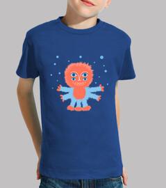 lustige flauschige alien kinder t-shirt