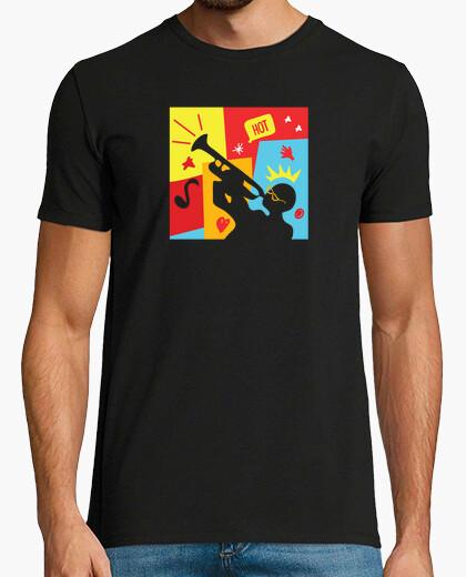 T-Shirt lustiger jazz-trompeter