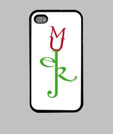 M-U-J-E-R Flor iPhone 4 Blanca