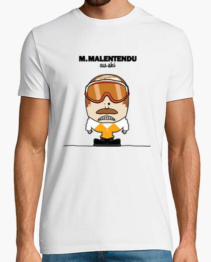Camiseta m. malentendido de esquí