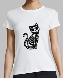 macabro gato camisa para mujer