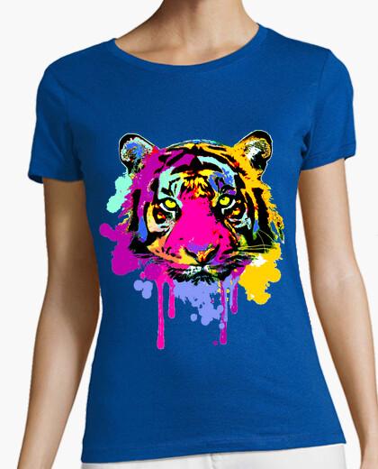 T-shirt macchie di tigre