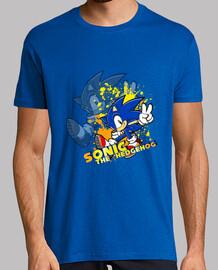 macchie solari -sonic uomo blu