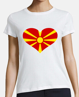 macedonia bandiera cuore