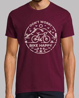 Mach dir keine Sorgen Fahrrad glücklich