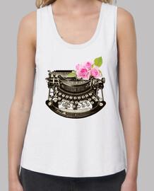 machine à écrire floral