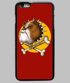mad dog cubierta del iphone 6 más, negro