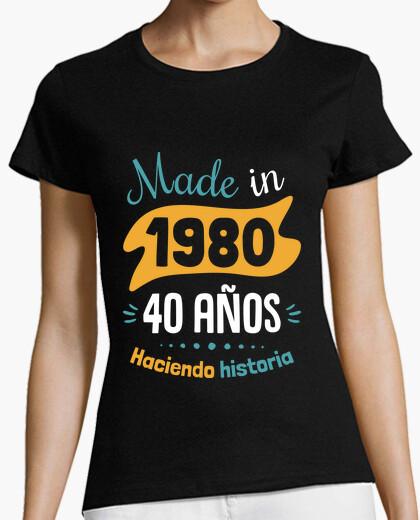 Camiseta Made in 1980, 40 Años Haciendo Historia