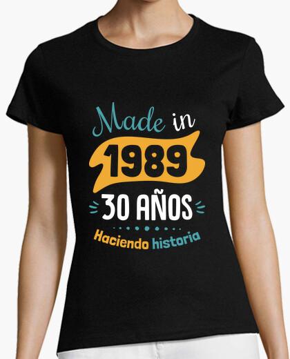 Camiseta Made in 1989, 30 Años Haciendo Historia