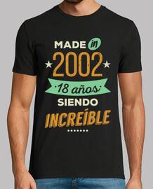 Made in 2002, 18 Años Siendo Increíble