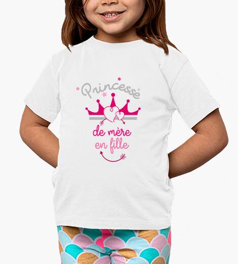 Abbigliamento bambino madre in figlia la principessa