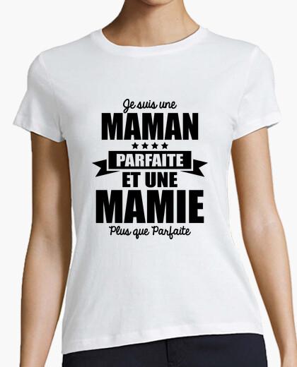 Camiseta madre perfecta y abuela más que...