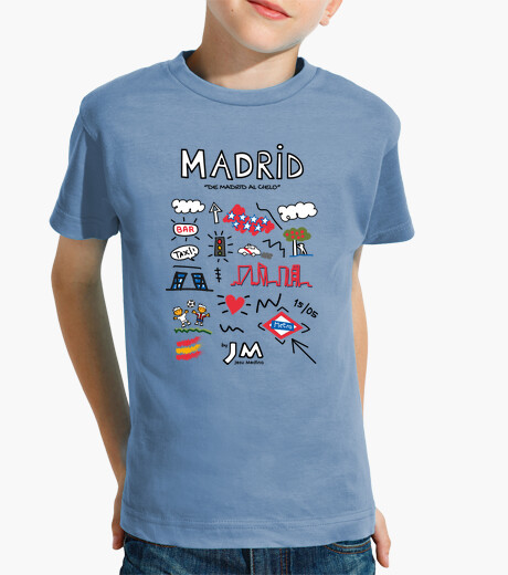 Madrid - black text kids clothes