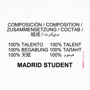 Camisetas Madrid student