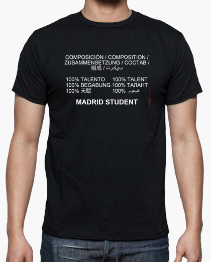 Camiseta Madrid student (blanco)