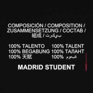 Camisetas Madrid student (blanco)