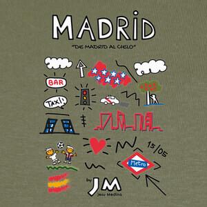 Madrid (Texto Negro) - Jesu Medina T-shirts