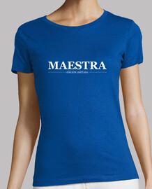 Maestra, mujer, logo blanco