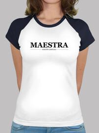 Maestra, mujer, logo negro