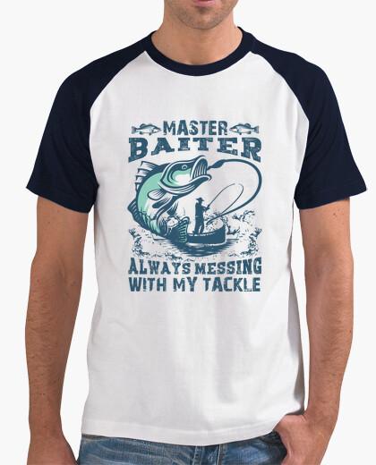 Maestro baiter siempre jugando con mis trastos camiseta para pescadores