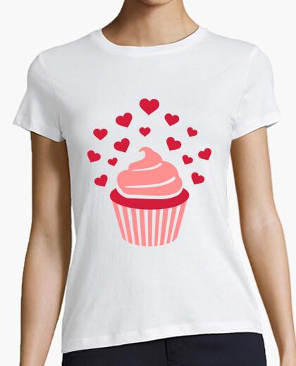 Camiseta magdalena corazones rojos