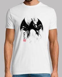 maglietta con ink drago