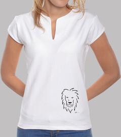 maglietta leone donna elegante