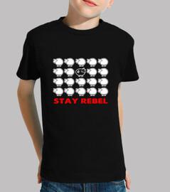 maglietta per bambini - ribelle black sheep