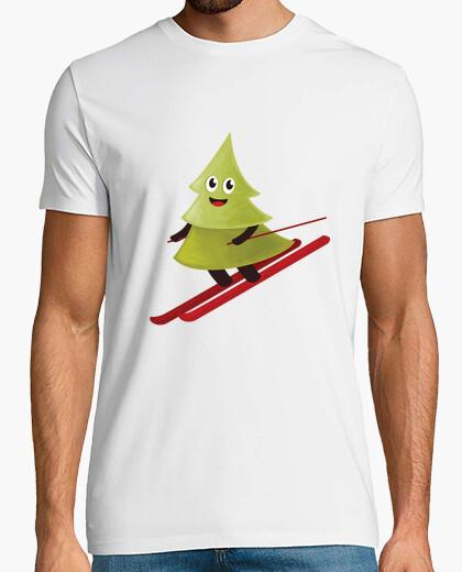 T-shirt maglietta sci pino felice