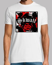 maglietta, skwall bianca
