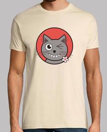 maglietta sveglia winking gatto
